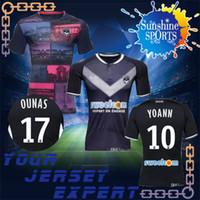 Wholesale Jersey Shorts Pattern - Bordeaux soccer Jersey 2018 Pattern Home black 10 YOANN 8 THOMAS 17 OUNAS 2019 Patrón football shiirts camiseta de fUtbol