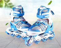 Kid s Roller Skates Shoes Athletic Roller Shoe PU Material Skating Shoes  All Wheels Adjust Daily Street Size Adjustable 2639894dc5