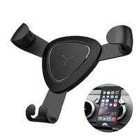 iphone смартфон оптовых-Гравитация металл вентиляционное отверстие крепление автомобильный держатель телефона GPS стенд для iPhone 7 6S Plus Samsung Smart Mobile Cell Phone Stander