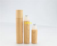 8 ml de bouteilles de parfum en rouleau achat en gros de-20pcs / lot Livraison Gratuite Rouleau de bambou 8 ml sur bouteille Eyecream conteneur rouleau cosmétique bouteilles pour parfums huile essentielle