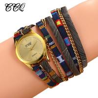 ingrosso orologi in boemia per le donne-CCQ Fashion Bohemian Bracelet Watch Women Casual Multilayers orologio da polso al quarzo femminile orologi Relojes Mujer