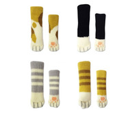 Wholesale claw feet resale online - Table Legs Sleeve Multi Color Cute Knitted Cat Claw Chair Foot Cover Non Slip qh C R