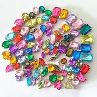 Wholesale arts crafts rhinestones - Wholesales 50pcs set Mixed Size Rhinestone Faux Diamond DIY Phone Accessories Craft Suplies Jewelry Home Room Decor Arts and Crafts