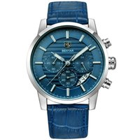 Wholesale Wrist Stop Watches - 43mm Quartz Chronograph Stop Watches Business And Sport Design Leather Band Strap Wrist Watches