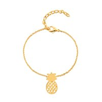 Wholesale fruit charm bracelet - Summer Hollow Pineapple Anklet Bracelet Cute Fruit Pendant Charm Bracelets Ankle Chains For Women Beach Holidays Jewelry