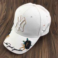 Wholesale free people summer - 2018 Baseball Cap NY Embroidery Letter Sun Hats Adjustable Snapback Hip Hop Dance Hat Summer Outdoor Men Women White Black Navy Blue Visor