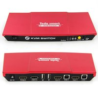 Wholesale Red Tesla smart New High Quality Port USB KVM HDMI Switch with Extra USB Port Support K K x2160