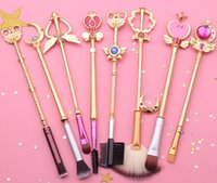 Wholesale sailor moon set resale online - style sailor moon Cosmetic brush Makeup Brushes Set Tools kit Eye Liner Shader natural synthetic hair