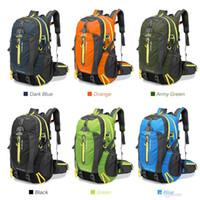 Wholesale waterproof laptop rucksack backpack online - 40L Waterproof Tactical Backpack Hiking Bag Cycling Climbing Backpack Laptop Rucksack Travel Outdoor Bags Men Women Sports Bag