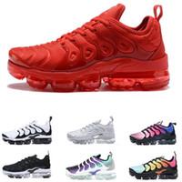 running shoes online al por mayor-Online 2018 New luxury tn plus Metallic Olive Women Hombre Hombre Running Diseñador Luxury Shoes Sneakers Brand Entrenadores