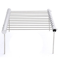 Wholesale stainless steel kitchen rack shelf resale online - Durable Outdoor Portable Folding Stainless Steel Barbecue Grill Camping Picnic BBQ Rack Stainless Steel Kitchen Extensible Shelf Dish Rack