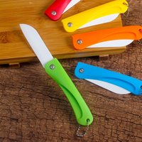Wholesale traditional pocket knifes for sale - Group buy China Foldable Ceram Ceramic Knife Gift Knifes Pocket Ceramic Folding Knives Kitchen Fruit Vegetable Paring Parer with Colourful ABS Handle