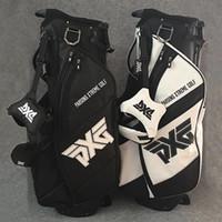 furo de ferro venda por atacado-Venda quente Saco de Golfe Golf Clubs Bag 4 Furos de viagem conjunto completo branco ou preto cor Stand Rack ferros putter motorista fairway