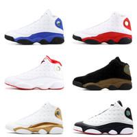 13s Classic 13 chaussures de basket-ball de race olive HOF DMP chat noir il  a obtenu jeu hyper royal barons hommes femmes Michael Sports 481d72384