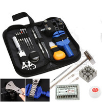 herramientas para relojes al por mayor-380 piezas de reparación de relojes de reloj kit de relojero Volver abridor de cajas removedor de resorte Pin Bars