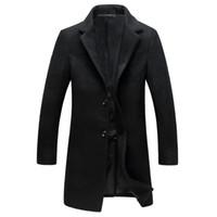 тонкое короткое пальто оптовых-2018 новый шерстяной пальто куртка мужчины короткие тонкий корейский пальто небольшой костюм осень и зима тренч abrigo hombre invierno XD364