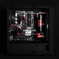 refrigeração de água do ventilador de cobre venda por atacado-Barrow hard tube Kits De Refrigeração De Água com 240/120mm de cobre Radiator, Vírus T Reservatório, RGB fãs para AMD4 Intel 1151 2011-V3