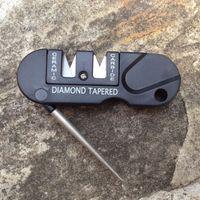 Wholesale pocket hook sharpener for sale - Group buy Portable Tungsten Ceramic Carbide Knife Whetstone Sharpener Sharpen Fish Hook Pocket Tool outdoor Camp Hike keychain pendant