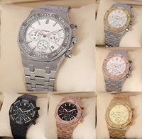 Wholesale luxury swiss mechanical watch resale online - Swiss Luxury Watch for Men all dial work Fashion Classic Style mm Stainless Steel Strap High Quality Movement watches Sapphire Mirror Oaks