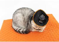 hacer traje de cerdo al por mayor-Envío gratis por dhl Cat Halloween Cosplay disfraces Magia Mago Negro / Sombrero de bruja + Juego de Scraf Halloween Disfraces para mascotas lin4197