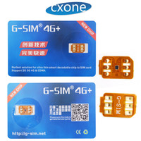 Wholesale G Lte - 100% Work Original G-sim Unlocking Sim Card 4G+ LTE for iPhone 5 6 7 8 X IOS 11.2.5 with free shipping