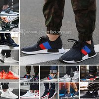 PU japan hot - Hot NMD R1 R2 Tri Color boost Runner Primeknit PK Japan Pack Triple Black Red white blue GREY Men Women boost Running sport Sneakers Shoes