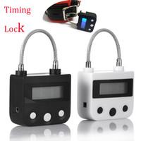 elektroniksex großhandel-Electronic Bondage Lock, BDSM Fetisch Handschellen Mundknebel Wiederaufladbare Zeitschaltuhr Keuschheitsgürtel Erotikspiele Sexspielzeug