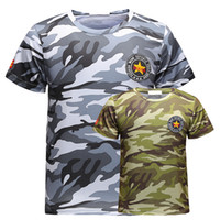 Wholesale plus size camouflage shorts for sale – plus size New Polyester Military Camouflage Breathe Quickly Dry T shirt Plu Size M XL Tshirt Summer Short Sleeves T Shirt Hot sale
