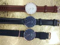 Wholesale woman copy - High quality copy Men Daniel W watches 40mm Men watches 36 Women Watches Luxury Brand Famous Quartz Wrist Watch Female Relogio Montre Femme