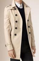 militärischer modemantel für männer großhandel-Neue Mode Stilvolle Herren Trenchcoat 2018 Frühling Männer Vintage Military Mantel Lange Dünne Mann Trench Jacken Freies Verschiffen 4796