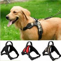 Wholesale Big Dog Lead - Pet Dog Vest Collar Harness For Big Dog Soft Adjustable Harness Lead Pet Large Dog Walk Out Hand Strap