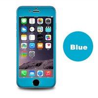 temperli cam ekran koruyucusu renkleri iphone toptan satış-Titanyum Alaşımlı Ekran Koruyucu için iPhone 6 S Artı 5.5