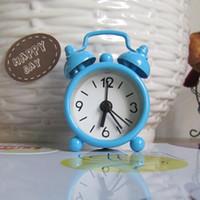 alarmnummer großhandel-New Home Outdoor Tragbare Nette Mini Cartoon Dial Number Runde Schreibtisch Wecker