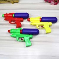anel pistola pistola venda por atacado-Venda quente Pistola De Água De Plástico Dupla Buraco Bico Puxar Arma de Água Soaker Squirt Blaster Shooter Pistola Longa Rang Brinquedo Arma de Água brinquedos