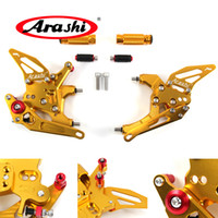 Wholesale cnc pedals for sale - Arashi Adjustable Footrests For Ducati Panigale Motorcycle Foot Peg Rest Rearsets Rear Set Pedal CNC Aluminum GOLD
