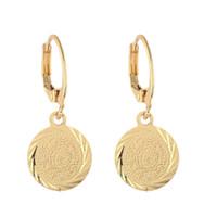 küpeler eski stil toptan satış-Altın Renk Para Küpe Müslüman İslam Takı Antik Para Arap Afrika Tarzı