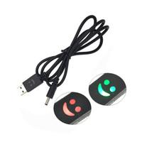 gülümseme yüz şarj aleti toptan satış-Şarj Edilebilir Far El Feneri için Gülümseme Yüz LED USB Veri Kablosu Hattı Şarj Cihazı