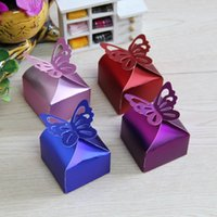 Wholesale Butterfly Laser Box - Laser Cut Butterfly Gift Boxes Folding DIY Candy Box Baby Shower Favor Box Favour Box Baby Shower Wedding birthday Party
