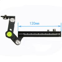 schnellverschlüsse großhandel-Multi-Purpose 120mm Schiene Nodal Slider mit Arca Schweizer kompatibel Quick Release Clamp + Tele Zoom Objektiv Halterung Unterstützung Halter