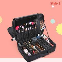 Wholesale Suitcase Large - High Quality Professional Empty Makeup Organizer Cosmetic Case Travel Large Capacity Storage Bag Suitcases