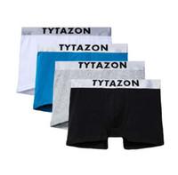 erkekler için gövde iç çamaşırı toptan satış-TYTAZON Erkek Iç Çamaşırı Merkezi logosu Pamuk Slim Fit Boxer Sandıklar Şort Bacaklar Hemming Tasarım Etiketsiz Hiçbir Binmek uçmak ile Beyaz