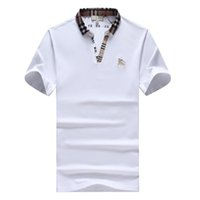 Wholesale people time - 2018 Summer fashion thirts Lapel Short Male People born after the 1990s Pure Cotton Leisure Time High Large In mens sleeve polo