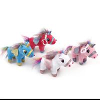 Wholesale blue unicorn toy resale online - 15 Cm Plush Unicorn Pendant Keychain Toys Popular Flying Horse Cartoon Animal Charm Bag Pendant Decor Blue yc Ww