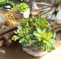 künstliche miniblumen blau großhandel-Blue Lotus Künstliche Pflanze Mini Sukkulenten Lotus Lithops Blatt Garten Sukkulenten Landschaft Gefälschte Blume Hausgartengestaltung FA