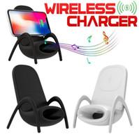 neuheit telefonhalter großhandel-Sofa Shaped Wireless Ladegerät Handy Wireless Stuhl Lade Ständer Halter für iPhone X 8 8 Plus Samsung Neuheit Artikel OOA5875