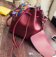 Wholesale bag straps for sale - Famous Designer Women Bags Leather Canvas Strap Handbags Branded Lady Shoulder Handbag New Totes Bag for sale