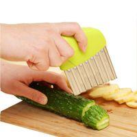 Wholesale vegetable slicers resale online - Creative Multi Function Vegetable Cutter Stainless Steel Wavy Cutter Vegetable Carrot Slicer Potato Corrugated Knife Kitchen Tools