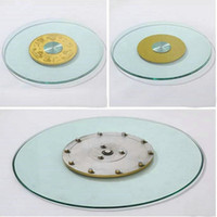 Wholesale Glass Dining Tables - HQ GL01 Tempered Glass Top 70CM 80CM 90CM Lazy Susan with Glass Turntable Swivel Plate for Dining Table