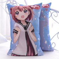 Wholesale Japanese Anime Fabrics - Japanese Anime Yuru Yuri Cute Hugging Body Back Pillow Akari Kyoko Kawaii Cartoon Cushion 2WAY Plush Fabric
