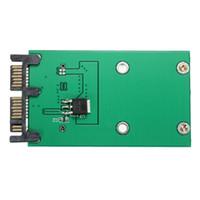 disco pci venda por atacado-Venda por atacado - Alta Qualidade Unidade de Disco Rígido Adaptador Mini PCIe PCI-e mSATA 3x5cm SSD para 1,8 polegadas Micro SATA Adapter Converter Card